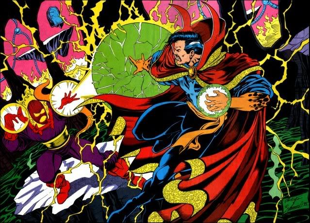Dr. Estranho vs Dormammu, um dos maiores inimigos do Doutor.