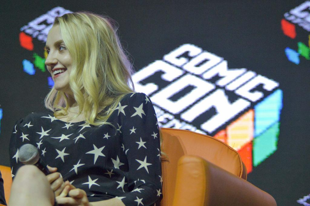 Evanna Lynch em painel na CCXP 2016 (Foto: Daniel Deak)