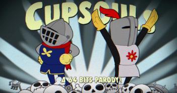 Animação imagina o mundo de Dark Souls com os gráficos de Cuphead